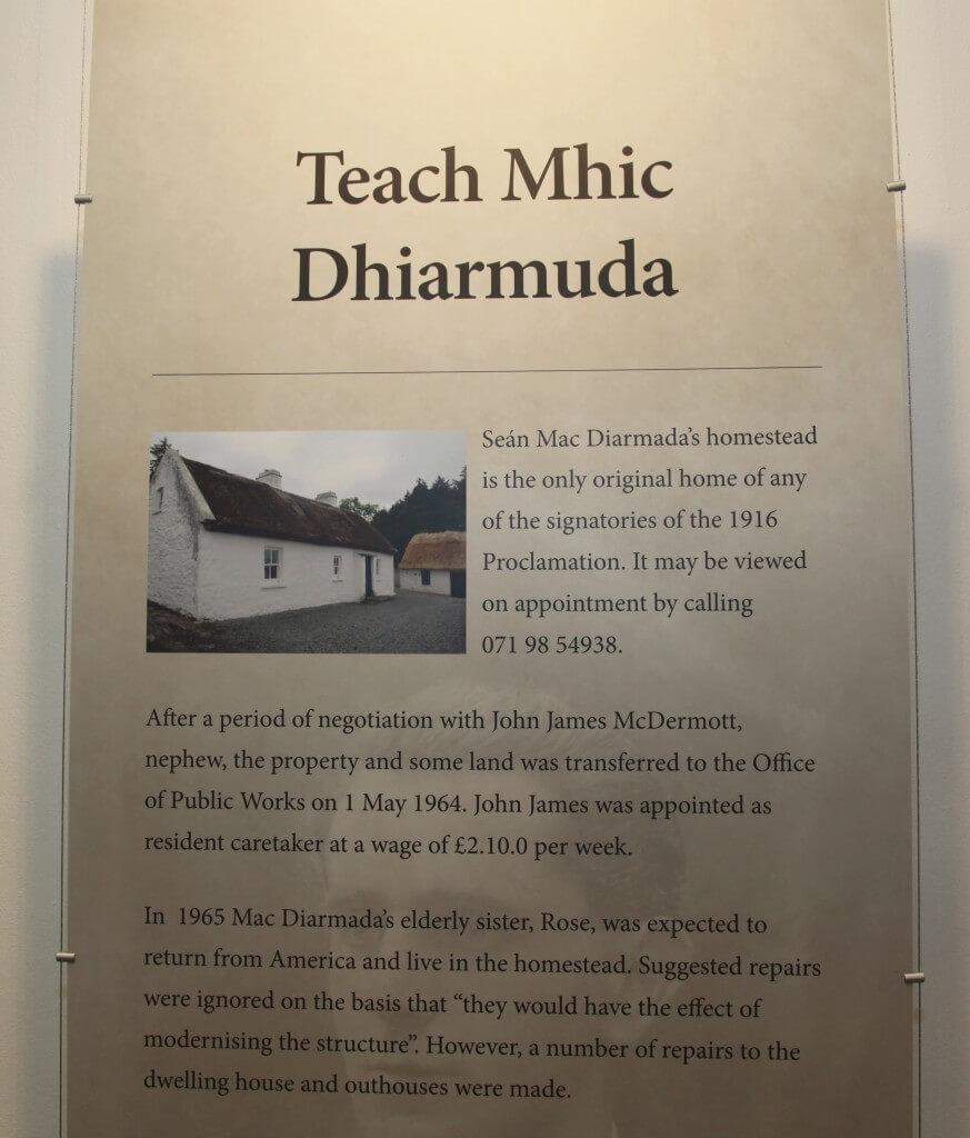 Seán MhicDiarmáda's home in Cornmore Kiltyclogher Co Leitrim
