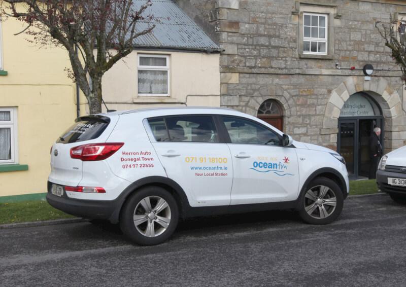Ocean FM and Irishtv filming in Kiltyclogher Co Leitrim.