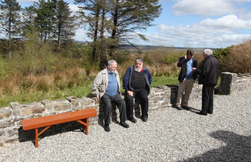 Visitors to Sean MacDiarmada's House Kiltyclogher Co Leitrim