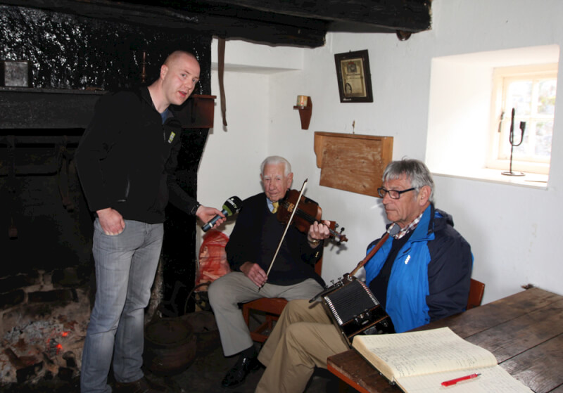 Ben Lennon and Jim Connolly playing Traditional Irish Music