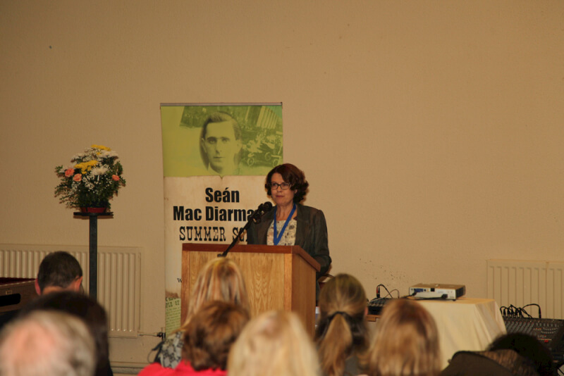Susan McKay opening the 2015 Sean MacDiarmada Summer School in Kiltyclogher Co Leitrim