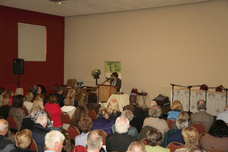Susan McKay speaking at the opening of the 2015 Sean MacDiarmada Summer School in Kiltyclogher Co Leitrim