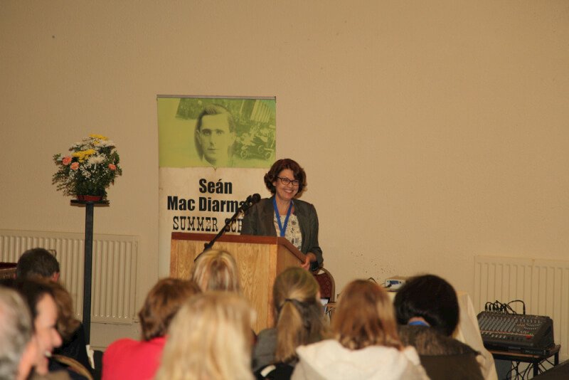 Susan McKay opening the 2015 Sean MacDiarmada Summer School in Kiltyclogher Co Leitrim