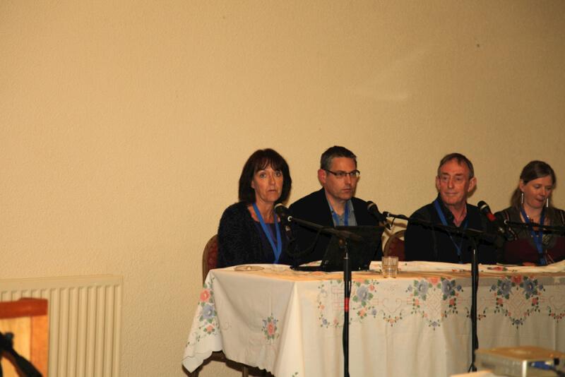 Eithne McNulty, Frank White, Seán Ó Súilleabháin and Marie Crawley on Panel at the 2015 Sean MacDiarmada Summer School in Kiltyclogher Co Leitrim
