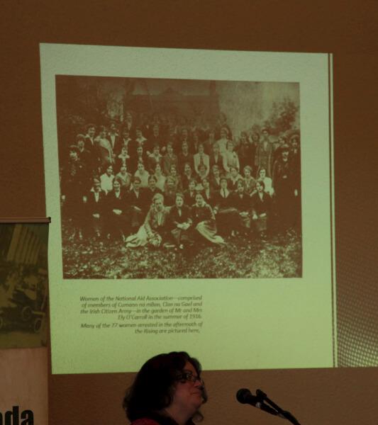 Mary McAuliffe UCD speaking at the Sean MacDiarmada Summer School in Kiltyclogher Co Leitrim