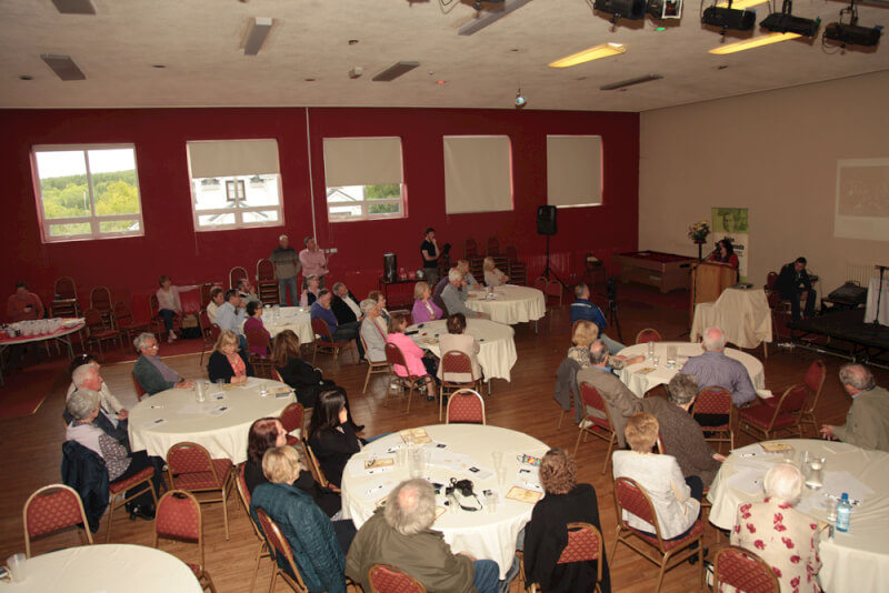 Audience listening to Mary McAuliffe UCD speaking at the Sean MacDiarmada Summer School in Kiltyclogher Co Leitrim