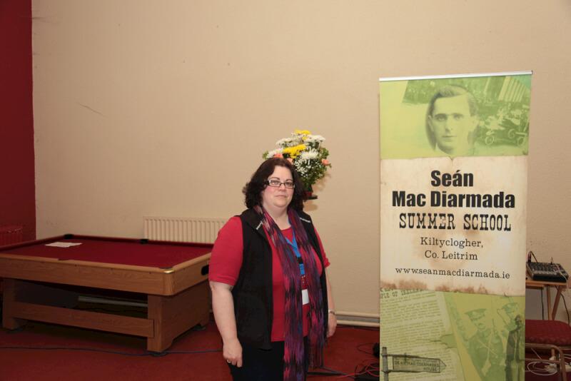 Mary McAuliffe UCD speaking at Sean MacDiarmada Summer School in Kiltyclogher