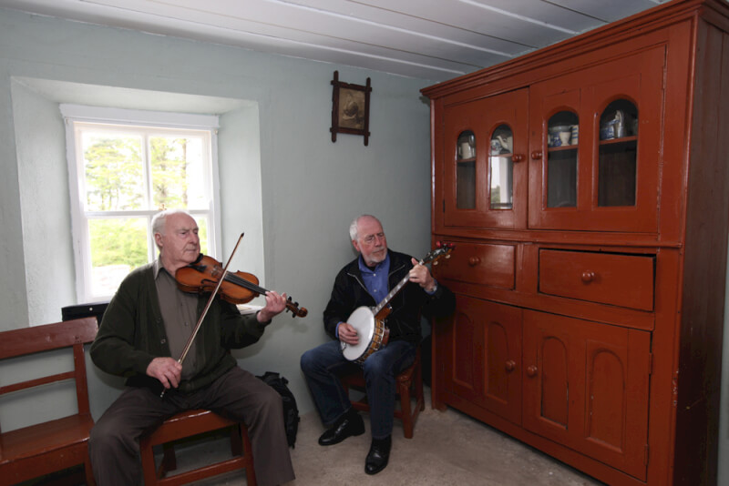 Seamus and Joe McGowan playing Tradition music session in Sean MacDiarmada's House Kiltyclogher Co Leitrim