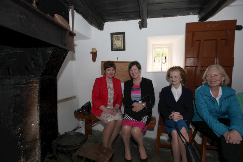 Visitors to Sean MacDiarmada's house in Kiltyclogher Co  Leitrim