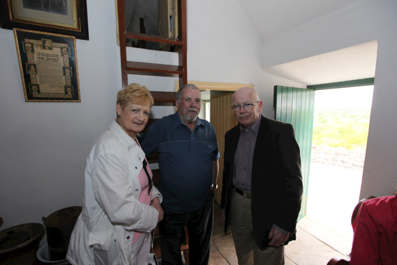 Jim Dillon giving visitors a tour of Sean MacDiarmada's house in Kiltyclogher Co  Leitrim