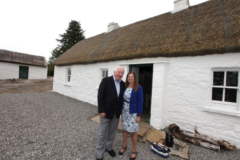 Visitors to Seán MacDiarmada house Kiltyclogher Co Leitrim on day of Official Opening of Seán MacDiarmada Summer School