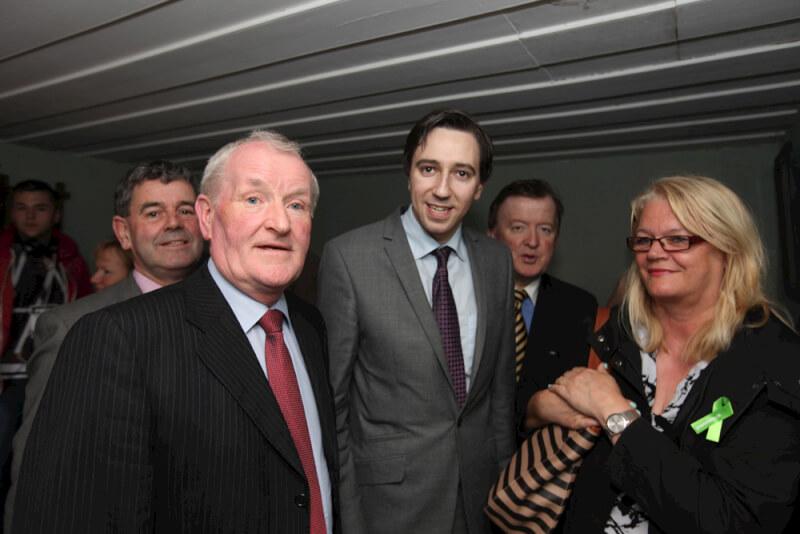 Tony McLoughlin and Minister for State Simon Harris in Seán MacDiarmada's house Kiltyclogher Co Leitrim