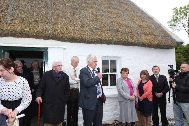 Councillor Paddy O'Rourke speaking at the Seán MacDiarmada house Kiltyclogher Co Leitrim