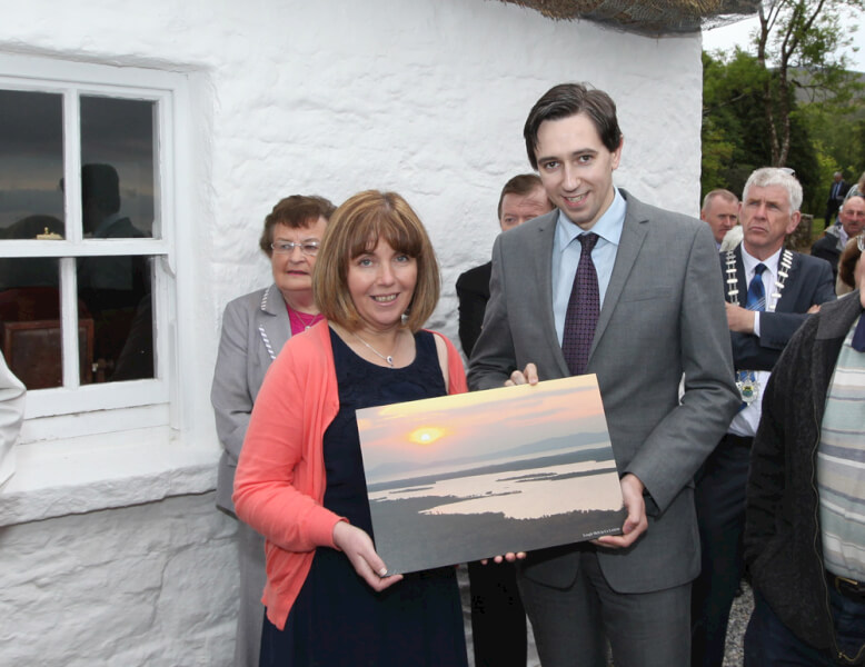 Presentation of Picture to Minister for State Simon Harris at Official Opening of Seán MacDiarmada Summer School