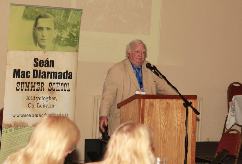 Tim Pat Coogan speaking at the Sean MacDiarmada Summer School in Kiltyclogher Co Leitrim