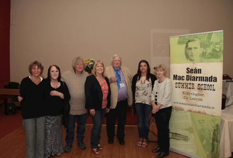 Tim Pat Coogan and relations of Seán MacDiarmada  at the Sean MacDiarmada Summer School in Kiltyclogher Co Leitrim