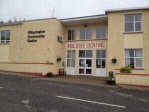 Location of Defibrillator at Kiltyclogher Community Centre.