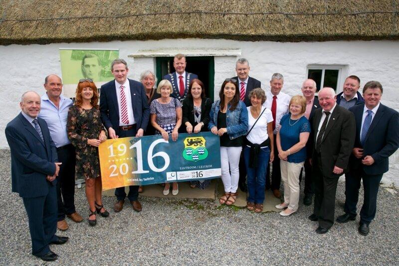 Junior Minister Kyne, County Councillors and relatives of Seán Mac Diarmada