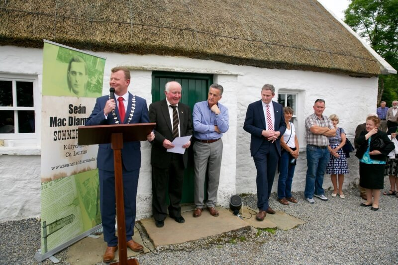 Leitrim County Council Cathaoirleach, John McCartin speaking at the Opening