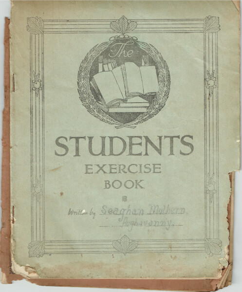 Front of book